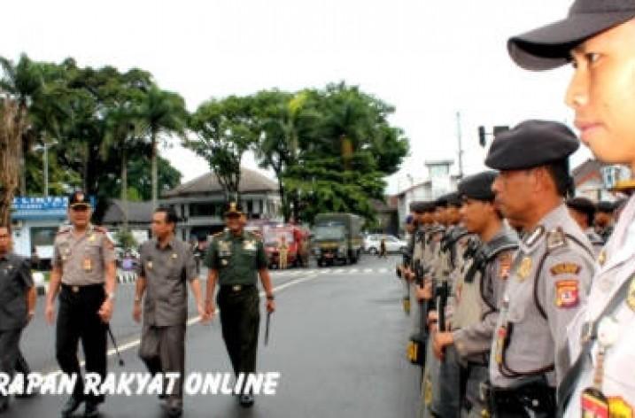 Pengamanan Natal, Aparat TNI-Polri di Ciamis Gelar Patroli Bersama