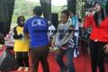 Walikota Banjar Bergoyang Dipanggung Hiburan Jalan Sehat