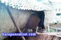 Rumah Janda Paruh Baya di Pamarican Ciamis Nyaris Ambruk Tertimpa Longsor