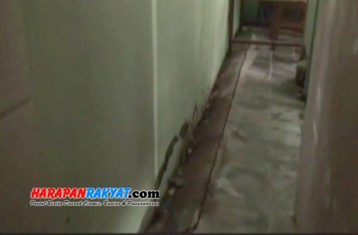 Pergeseran Tanah di Pangandaran, 3 Rumah Warga Retak