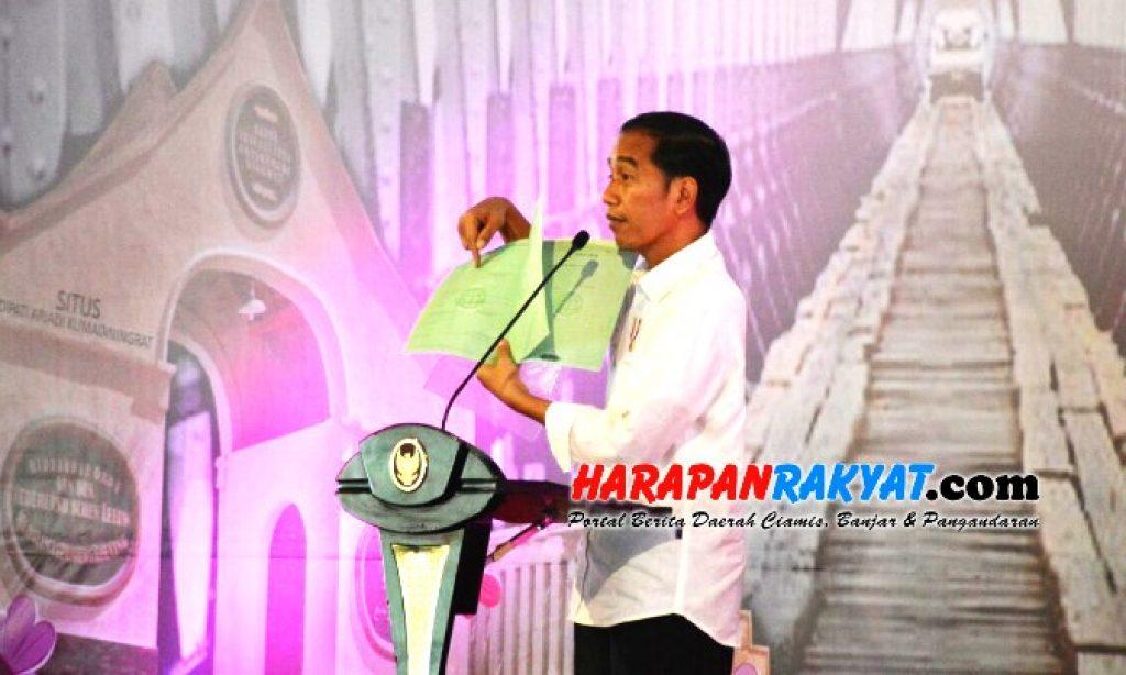 Di Ciamis Jokowi Ungkap Alasan Gulirkan Percepatan Sertifikasi Tanah Hak Milik