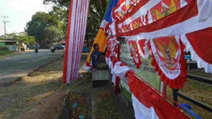 penjual bendera