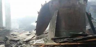kebakaran pabrik cengkeh di Pangandaran