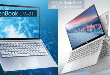 Duo Laptop Asus ZenBook