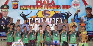 Maistiq dan Jabar Pancanaka Jadi Juara 1 Turnamen Bola Voli Kapolres Ciamis Cup