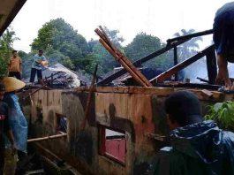 Rumah Warga Bangunjaya Pangandaran Ludes Terbakar