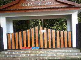 Situs Astana Gede Kawali, Kabupaten Ciamis, Jawa Barat, ditutup sementara. Foto: Edji Darsono/HR.